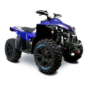 SMC MBX 850 road legal quadbike in blue