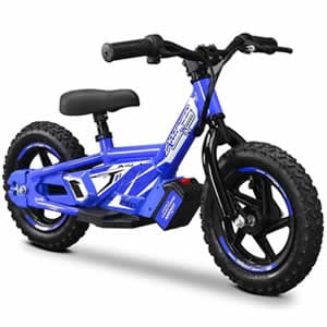 electric balance bike in blue available at Extreme Quads