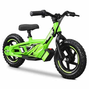electric balance bike in green available at Extreme Quads