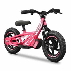 electric balance bike in pink available at Extreme Quads
