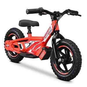 electric balance bike in red available at Extreme Quads